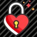 block, close, heart, lock, security