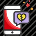 broken, dating, heart, message, mobile