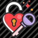 heart, key, lock, love, valentine