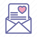 valentines, day, februari, love, letter