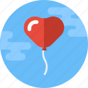 balloon, decoration, heart, heart balloon, love, valentine, valentines icon