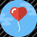 balloon, decoration, heart, heart balloon, love, valentine, valentines