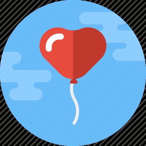 balloon, decoration, heart, heart balloon, love, valentine, valentines icon