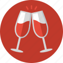 beverages, celebration, cheers, drinks, toast, toasting, wine icon