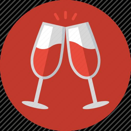 beverages, celebration, cheers, drinks, toast, toasting, wine icon