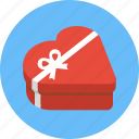 box, chocolate box, gift, heart, heart box, heart shaped box, valentine icon