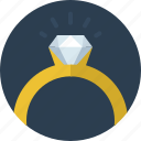 diamond, jewelry, marriage, proposal, propose, ring, wedding icon