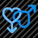 day, gay, heart, love, male, romance, romantic, valentine, valentines, wedding icon