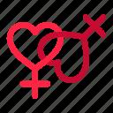 couple, day, female, heart, lesbian, love, romance, romantic, valentine icon