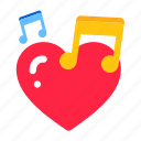 day, heart, love, music, romance, romantic, song, valentine, valentines, wedding icon