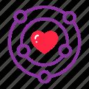day, heart, love, nearby, romance, romantic, valentine, valentines, wedding icon