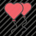 balloon, celebration, love, valentine