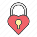 lock, love, romantic, valentine