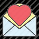 letter, love, mail, message, open, valentine