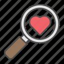 couple, love, romance, search, valentine icon