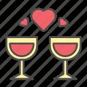 drink, love, romantic, valentine, wine