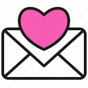 letter, love, mail, post, romance, valentine icon