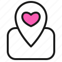 dating, hotel home, location, love, map, romance, valentine icon