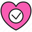 approve, check, couple, dating, love, romance, valentine icon