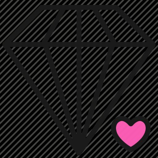 Diamond, love, married, romance, valentine, wedding icon - Download on Iconfinder