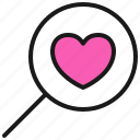 dating, love, romance, search, valentine icon