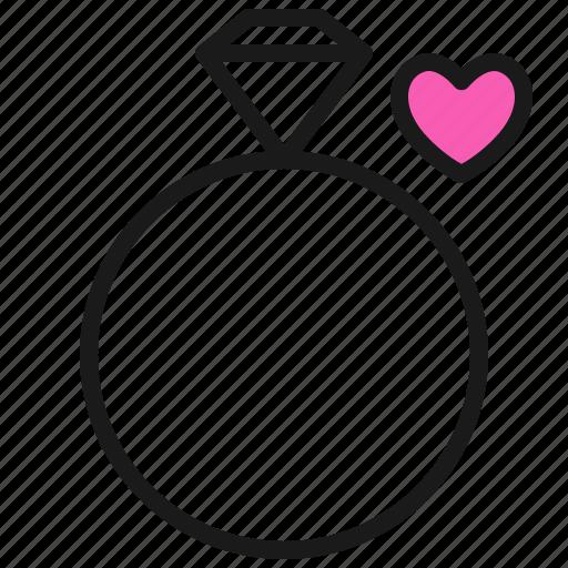 Love, married, ring, romance, valentine, wedding icon - Download on Iconfinder