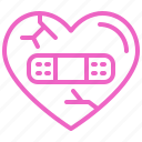 broken, heart, love, sick, valentine