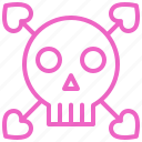 dating, love, romance, skull, soulmate, sweety, valentine icon