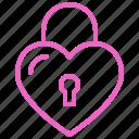 dating, lock, love, romance, soulmate, sweety, valentine icon