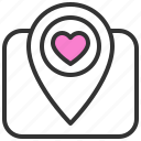dating, location, love, romance, soulmate, sweety, valentine icon
