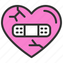 broken heart, dating, love, romance, soulmate, sweety, valentine icon