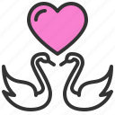 dating, love, romance, soulmate, swan, sweety, valentine icon