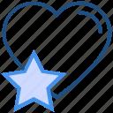 favorite, heart, like, love, star, valentine's day icon