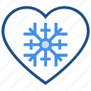cold, heart, love, snow, valentine's day, winter icon