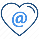 at, heart, internet, love, sign, valentine's day