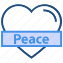 heart, like, love, peace, romance, valentine's day icon
