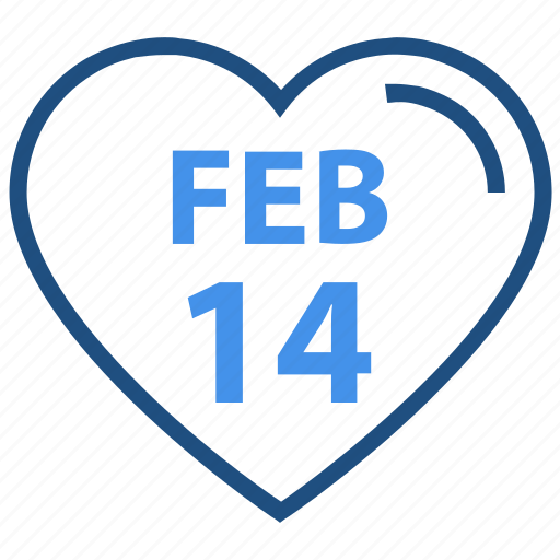14 february, heart, like, love, romance, valentine's day icon