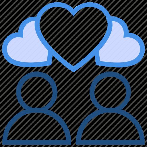 couple, heart, hearts, love, marriage, romance, valentine's day icon
