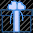 gift, gift box, love, present, ribbon, romance, valentine's day icon