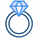 couple, diamond ring, engagement, present, valentine's day, wedding icon