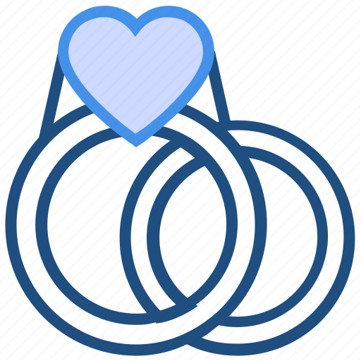 couple, engagement, heart, love, rings, valentine's day, wedding icon