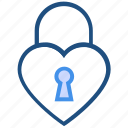 dating, heart, heart lock, lock, love, valentine's day icon