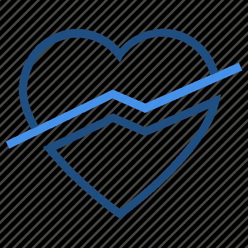 disabled, heart, love, off, slash, valentine's day icon