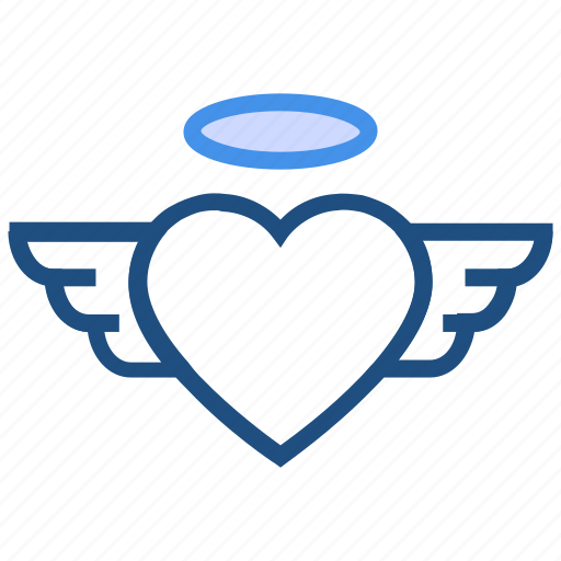 fly, heart, love, valentine's day, wedding, wing icon