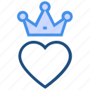 crown, heart, king, love, queen, royal, valentine's day