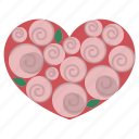 card, decorate, decoration, heart, love, rose, valentine icon