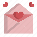 card, envelope, letter, valentine icon