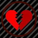 broken, heart, heartbreak, love