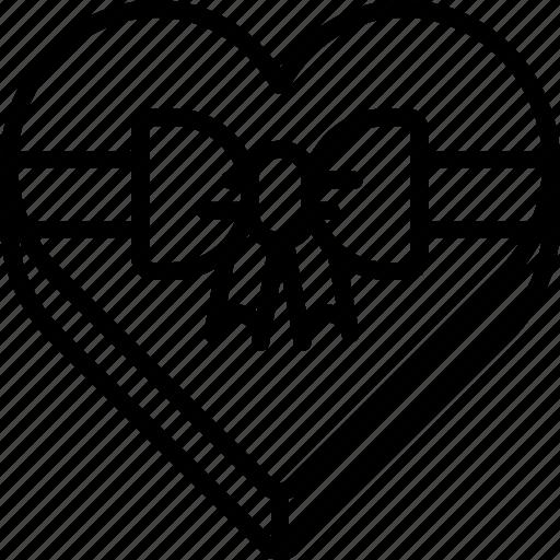 box, chocolate, gift, heart, sweet, valentine, valentine's day icon