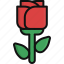 flower, heart, love, nature, rose, valentine, valentine's day icon